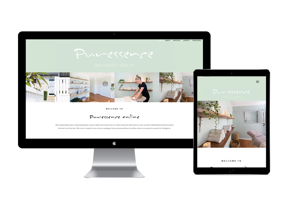 Puressence online website design