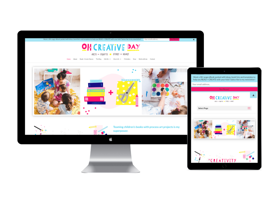 Oh Creative Day website design