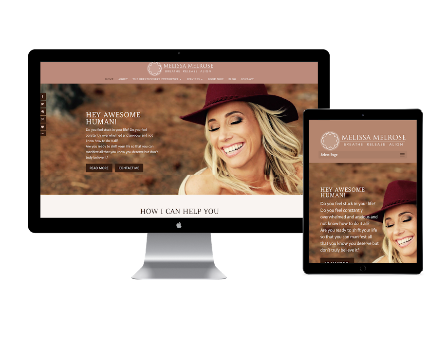melissa Melrose website design