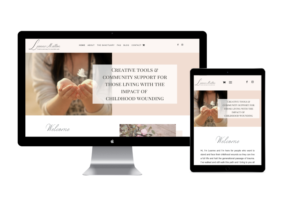 Leanne Matton creative sanctuary website design