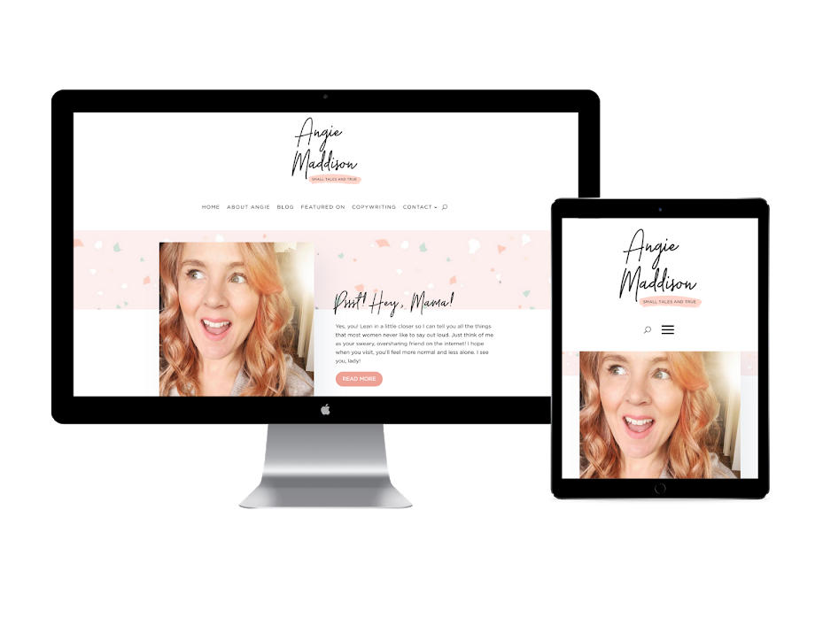 Angie Maddison website design