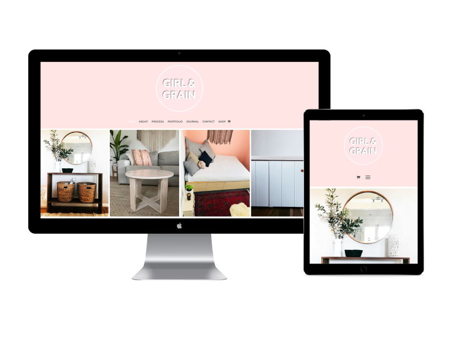 girl and grain website design