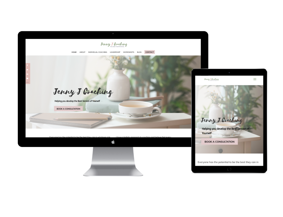 Jenny J Coaching website design
