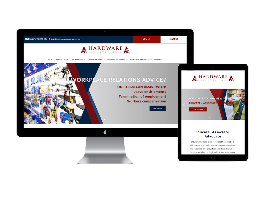 Hardware Australia website design