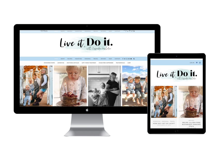 Live it. Do it. website design