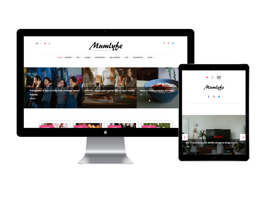 Mumlyfe website design