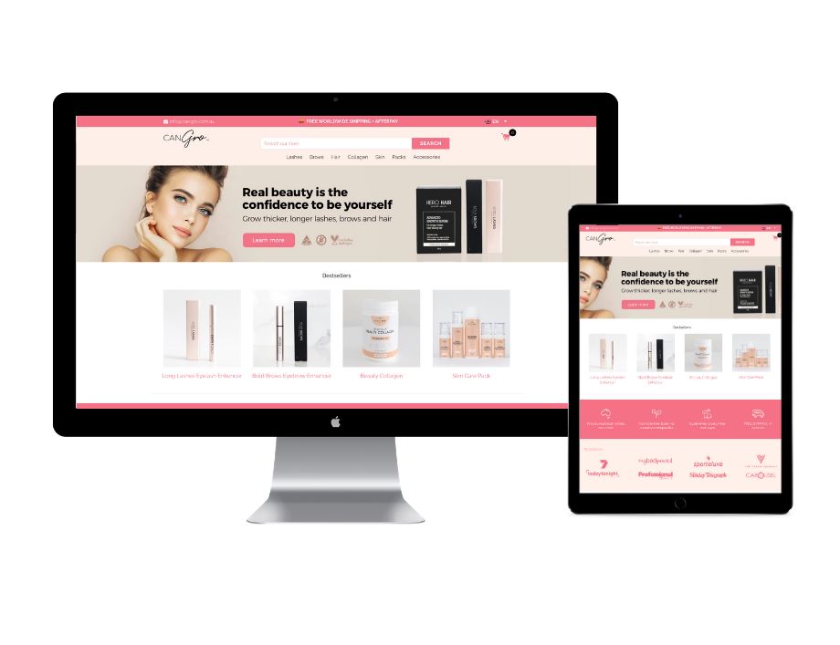 CanGrow Wholesale website design