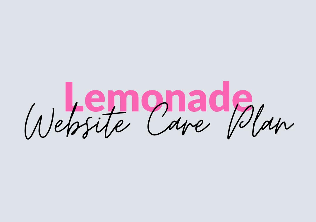 lemonade website care plan